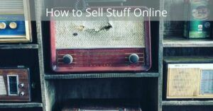 How to sell stuff online - Old radio on a shelf