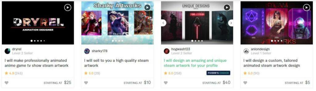 Create Steam artwork on Fiverr